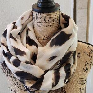 Accessories - Animal print cotton scarf